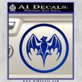 Bacardi Bat CR Decal Sticker Blue Vinyl 120x120