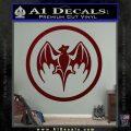 Bacardi Bat CR Decal Sticker Dark Red Vinyl 120x120