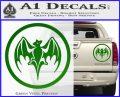 Bacardi Bat CR Decal Sticker Green Vinyl 120x97