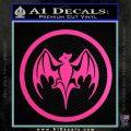 Bacardi Bat CR Decal Sticker Hot Pink Vinyl 120x120