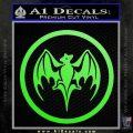 Bacardi Bat CR Decal Sticker Lime Green Vinyl 120x120