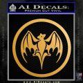 Bacardi Bat CR Decal Sticker Metallic Gold Vinyl 120x120