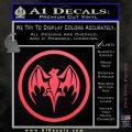 Bacardi Bat CR Decal Sticker Pink Vinyl Emblem 120x120