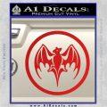 Bacardi Bat CR Decal Sticker Red Vinyl 120x120