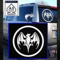 Bacardi Bat CR Decal Sticker White Emblem 120x120
