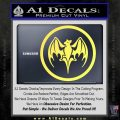 Bacardi Bat CR Decal Sticker Yelllow Vinyl 120x120