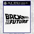 Back To The Future Title Logo Decal Sticker Black Logo Emblem 120x120