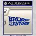 Back To The Future Title Logo Decal Sticker Blue Vinyl 120x120