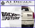 Back To The Future Title Logo Decal Sticker Carbon Fiber Black 120x97