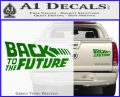 Back To The Future Title Logo Decal Sticker Green Vinyl 120x97