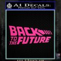 Back To The Future Title Logo Decal Sticker Hot Pink Vinyl 120x120