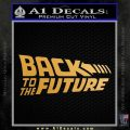 Back To The Future Title Logo Decal Sticker Metallic Gold Vinyl 120x120