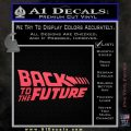 Back To The Future Title Logo Decal Sticker Pink Vinyl Emblem 120x120