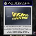 Back To The Future Title Logo Decal Sticker Yelllow Vinyl 120x120