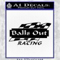 Balls Out Racing Decal Sticker Black Logo Emblem 120x120