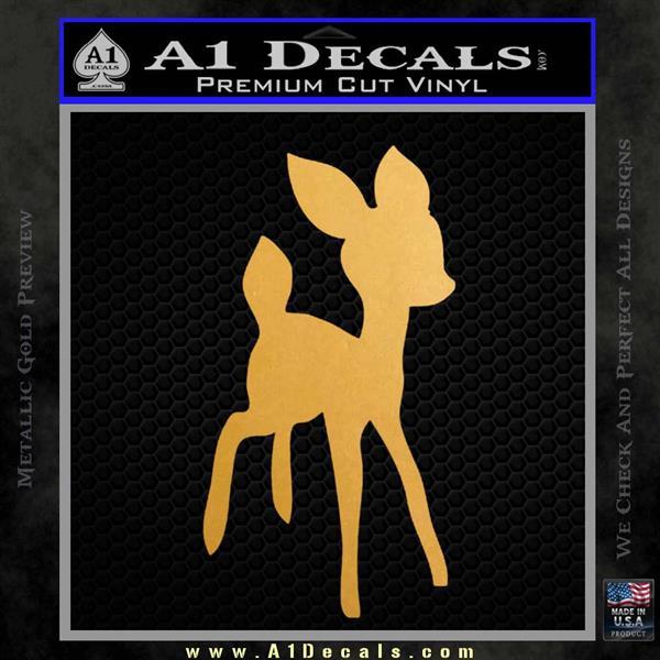 Bambi Decal Sticker D3 Metallic Gold Vinyl