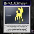 Bambi Decal Sticker D3 Yelllow Vinyl 120x120