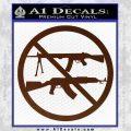 Ban Semi Auto Guns Decal Sticker BROWN Vinyl 120x120