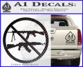 Ban Semi Auto Guns Decal Sticker Carbon FIber Black Vinyl 120x97