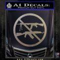 Ban Semi Auto Guns Decal Sticker Carbon FIber Chrome Vinyl 120x120
