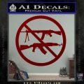 Ban Semi Auto Guns Decal Sticker DRD Vinyl 120x120