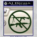 Ban Semi Auto Guns Decal Sticker Dark Green Vinyl 120x120