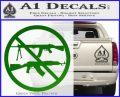 Ban Semi Auto Guns Decal Sticker Green Vinyl Logo 120x97