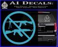 Ban Semi Auto Guns Decal Sticker Light Blue Vinyl 120x97