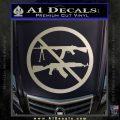 Ban Semi Auto Guns Decal Sticker Metallic Silver Emblem 120x120