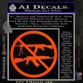 Ban Semi Auto Guns Decal Sticker Orange Emblem 120x120