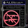 Ban Semi Auto Guns Decal Sticker Pink Emblem 120x120