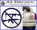 Ban Semi Auto Guns Decal Sticker PurpleEmblem Logo 120x97