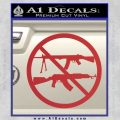 Ban Semi Auto Guns Decal Sticker Red 120x120
