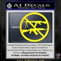 Ban Semi Auto Guns Decal Sticker Yellow Laptop 120x120
