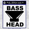 Bass Head D1 Decal Sticker Black Logo Emblem 120x120