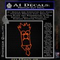 Beaker Decal Sticker Muppets Orange Vinyl Emblem 120x120