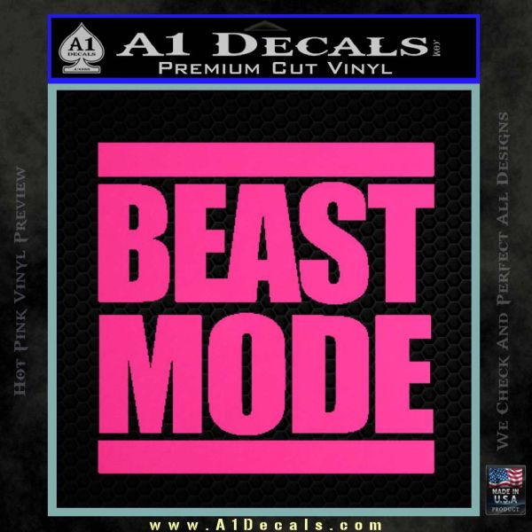 Beast Mode Run Dmc Decal Sticker 187 A1 Decals