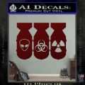 Bio Hazzard Bombs Decal Sticker Dark Red Vinyl 120x120