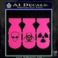 Bio Hazzard Bombs Decal Sticker Hot Pink Vinyl 120x120