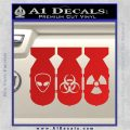 Bio Hazzard Bombs Decal Sticker Red Vinyl 120x120