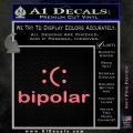 Bipolar Decal Sticker Pink Emblem 120x120