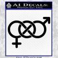 Bisexual Symbol Decal Sticker Black Vinyl 120x120