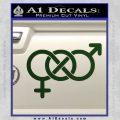 Bisexual Symbol Decal Sticker Dark Green Vinyl 120x120
