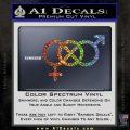 Bisexual Symbol Decal Sticker Glitter Sparkle 120x120