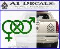 Bisexual Symbol Decal Sticker Green Vinyl Logo 120x97
