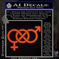 Bisexual Symbol Decal Sticker Orange Emblem 120x120