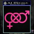 Bisexual Symbol Decal Sticker Pink Hot Vinyl 120x120