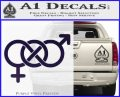 Bisexual Symbol Decal Sticker PurpleEmblem Logo 120x97