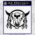 Bison Skull Native American Indian Ritual Decal Sticker Black Logo Emblem 120x120