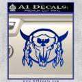 Bison Skull Native American Indian Ritual Decal Sticker Blue Vinyl 120x120
